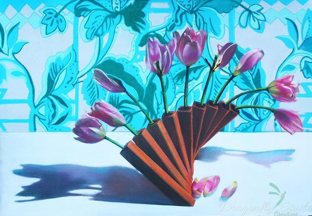 Tulip Petals N Patterns Pastel