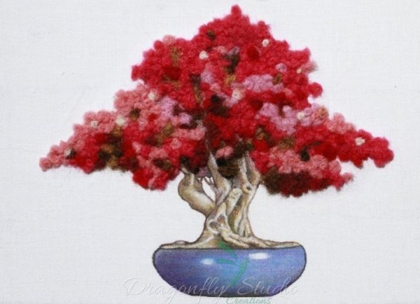 Variegated Pink Bonsai Mixed Media